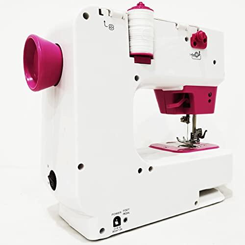 ZWYSL Máquina de Coser Funcional para El Hogar, 12 Puntadas, Escritorio Eléctrico con Overlock para Uso En Viajes DoméSticos para Principiantes con Función Velocidad Variable (Color : White)