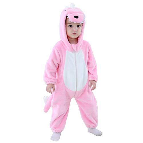 Baby Pink Dinosaur Costumes Unisex Toddler Onesie...