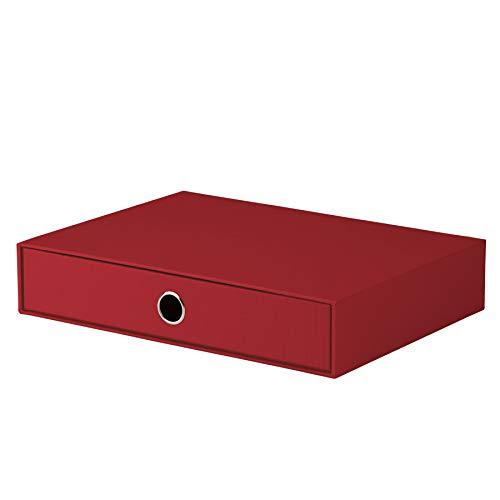 Rössler 1524452360 - S.O.H.O. Schubladenbox für DIN A4, mit Griffloch, rot