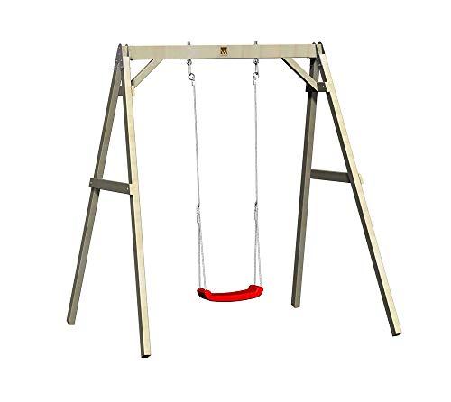Wendi Toys Holz Schaukel Einzelschaukel 180x150x210 cm Kinderschaukel Garten Schaukelgerüst Holzschaukel Spielplatz