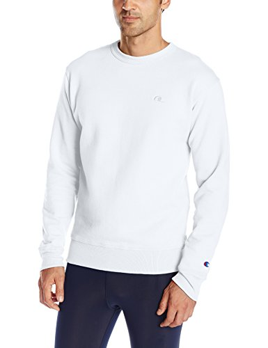 Champion Men's Powerblend Pullover Sweatshirt, White, X-Large