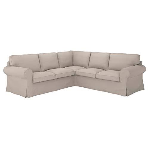 IKEA UPPLAND Cover for 4 Seat Sectional Sofa Light Beige Slipcover Slip Covers