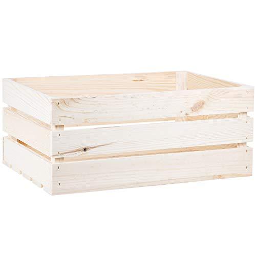 Holzkiste 41 Liter Weinkiste 54x38,5x23 cm Kiste Apfelkiste Vollholz Holzstiege