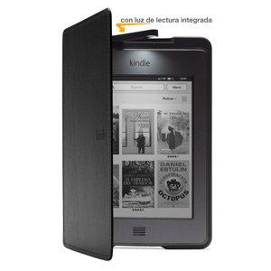 Funda de cuero con luz Amazon para Kindle Touch, color negro (sólo sirve para el Kindle Touch)
