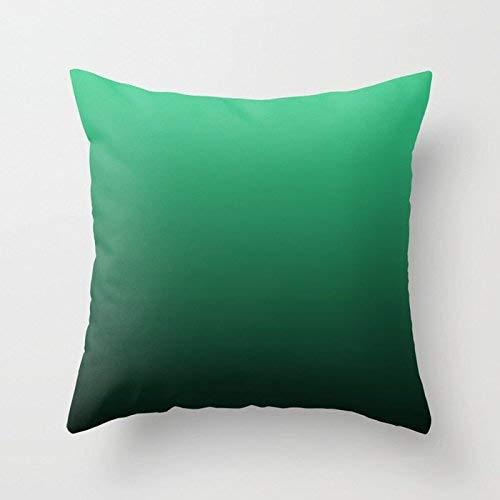 Fundas Decorativas para Cojines, Color Turquesa, Verde, Negro, Degradado, Color Degradado, algodón, Lino, Cojines, Fundas de Almohada (Dos Lados)
