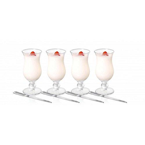 Brilliant - Appetizer Set, 4 Parfait Glasses & Spoons