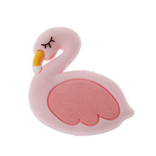 Cuigu Silikonperlen für die Zahnung, süß, Motiv Flamingo, Anhänger, DIY, Chew Teether, Spielzeug für Neugeborene, Geschenk, nicht giftig, BPA, Latex und Phtalate