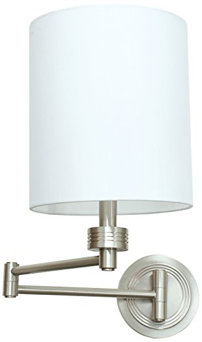 House of Troy WS775-SN Wall Swing Arm Lamp, Satin Nickel