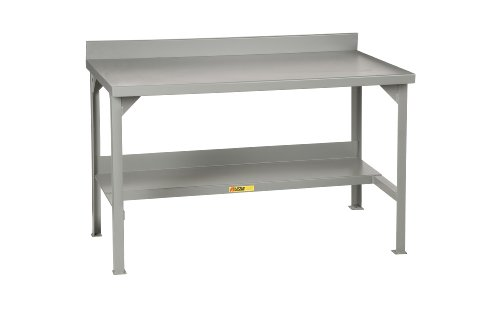 """Little Giant WB-2872 Steel Welded Fixed Stationary Workbench with Backstops, 3000 lbs Capacity, 72"""" Width x 36"""" Height x 28"""" Depth"""