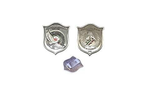 Placca Con Clip G.P.G I.P.S AQUILA + PANTERA Guardia Particolare Giurata Incaricato di Pubblico Servizio Art.GPG-A-P-C