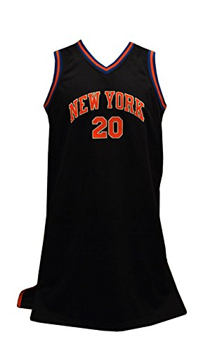 Reebok Women's New York Knicks #20 Houston Black NBA Jersey (M)