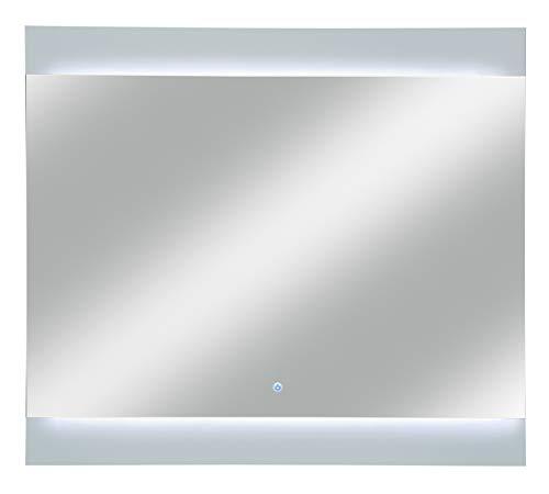 FACKELMANN LED Spiegel PIURO/Badezimmerspiegel mit automatische Abschaltung/Maße (B x H x T): ca. 80 x 73 x 3 cm/hochwertiger Badspiegel mit Sensor/Wandspiegelelement mit Beleuchtung