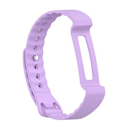 B Blesiya Reemplaza el deporte de silicona con pulsera para Honor A2 Smart Watch – morado, 260 x 15 mm