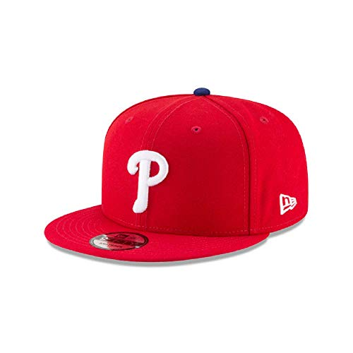New Era Philadelphia Phillies Basic Logo MLB Snapback Cap Rot, One Size