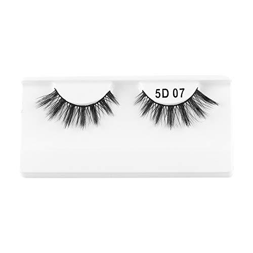 1 paire de cils de vison 3D entrecroisés brins dramatiques à haut volume faux cils yeux outils de maquillage(07)