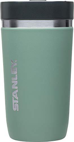 Stanley GO Ceramivac Thermo-Trinkbecher mit Keramik-Beschichtung, 0.47 L, shale / lindgrün, Doppelwandig, Vakuumisoliert, Deckel verschließbar, Thermobecher Isolierbecher Kaffeebecher