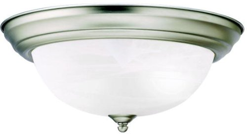 Kichler 8109NI Signature 2 Light 13 inch Brushed Nickel Flush Mount Ceiling Light