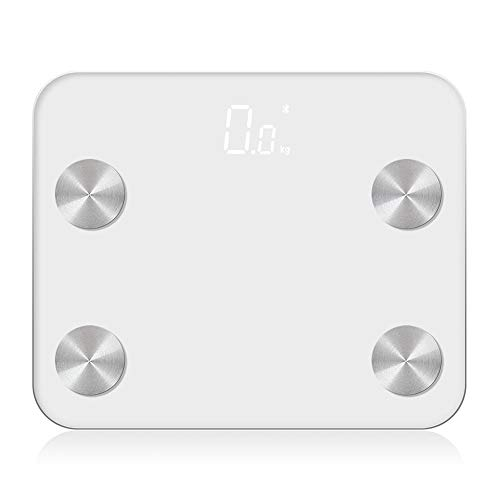 Great Deal! Household Scale Smart,Bathroom Scales High Rrecision Digital Weight Scale 6mm Tempered G...