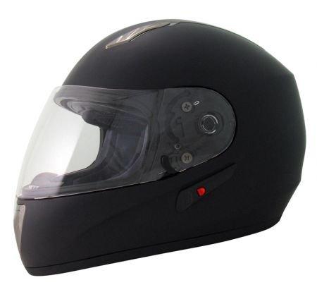Protectwear H520-ES-XL Motorradhelm,Integralhelm mit Integrierter Sonnenblende, Größe XL, Schwarz-Matt - 2
