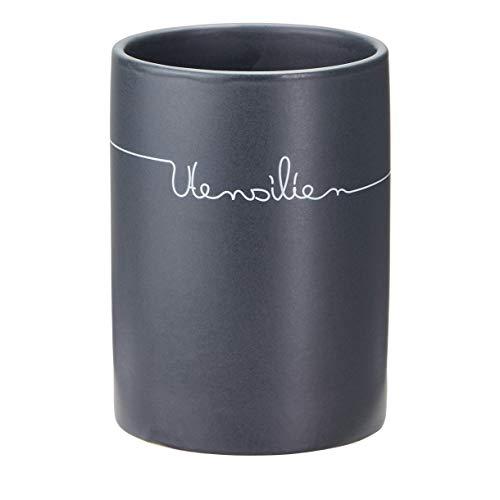 Vorratsdosen Set Keramik anthrazit Holz-Deckel Kaffeedose Kartoffelbox Zwiebel, Dosenart:Utensilienhalter