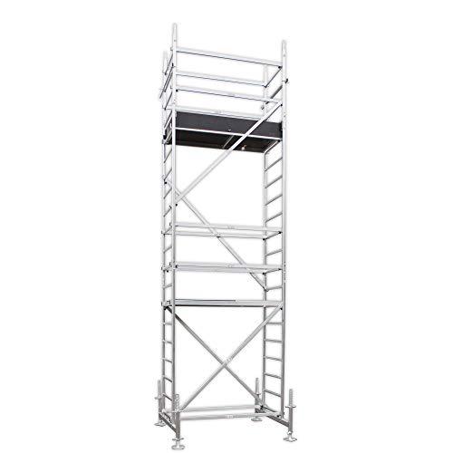 ALTEC Rollfix 600, Arbeitshöhe 6 m neu, inkl. Traverse, höhenverstellbarer Fußplatten und Wandanker, TÜV-geprüft,
