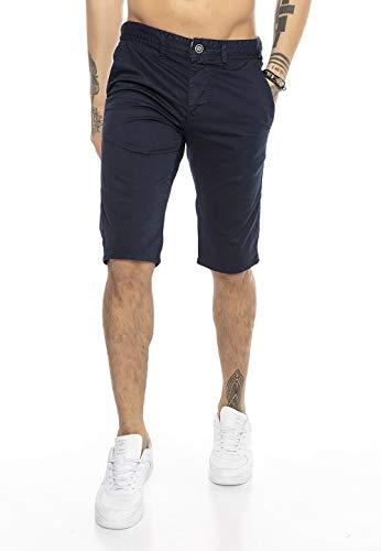 Redbridge Herren Chino Shorts Bermuda Kurze Hose Business Casual Knielang Blau W36