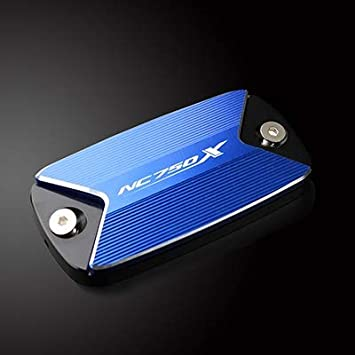 Mujun Reserve Logo Nc750x Motorrad Cnc Aluminiumfrontbremsflüssigkeitsbehälter Abdeckkappe For Honda Nc750x Nc750 X Nc 750x 2015 2016 2017 2018 Color Blue Auto