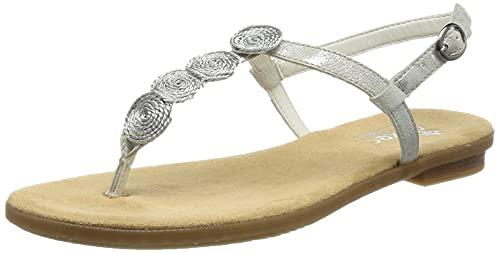 Rieker Damen 64269 Sandale, Metallic, 40 EU