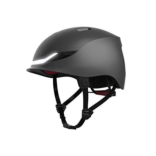 LUMOS Matrix Smart Helmet (Charcoal Black) | Urban | Skateboard, Scooter, Bike Accessories | Adult: Men, Women | Front and Rear LED Lights | Turn Signals | Brake Lights | Bluetooth Connected
