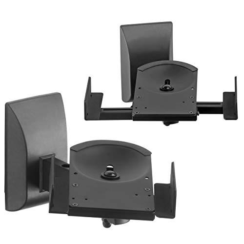 Suptek Dual Side Clamping Bücherregal Lautsprecherhalterung Wandhalterung für große Umgebungslautsprecher, halten Sie bis zu 30kg SPM201XL
