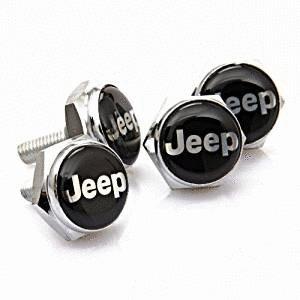4pcs set Separate Chrome License Plate Frame Bolt Screws Fit For Jeep Car Model