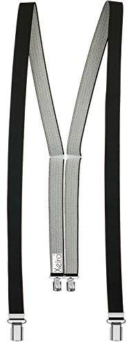 Xeira Hosenträger Schwarz in Uni Farben für Damen mit 4 stabile Clips - 25mm Breit