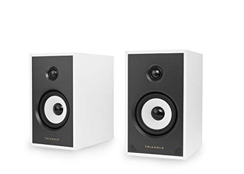 TRIANGLE SENSA SN03A Wit - Paar Actieve luidsprekers - Bluetooth Aptx - Versterking 2 x 50 Watt