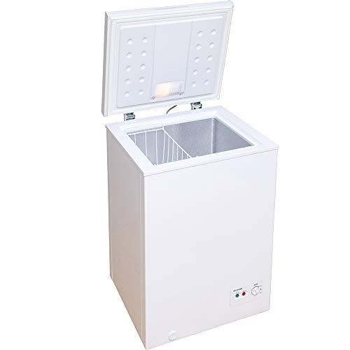 アイリスオーヤマ 冷凍庫 100L 上開き ノンフロン チェストフリーザー 温度調節6段階 静音 省エネ 大容量 コンパクト ホワイト ICSD-10A-W