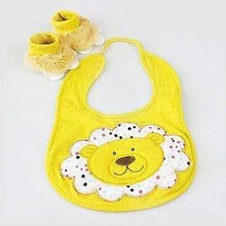 Kit Babador e Pantufa Leão Amarelo - Zip Toys