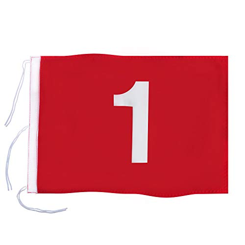 KINGTOP Golf Flag with Strings, Putting Green Flags for Yard, Indoor | Outdoor, Course Pin Flags, 400D Premium Nylon Flag, 20
