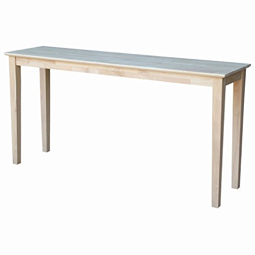 International Concepts Concole Table, 60', Unfinished