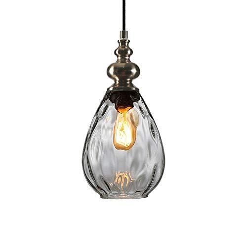 LHTTCZZB. Creativo Bancone luci a sospensione in vetro paralume lampadario europea creative personalità Craft netto rosso Lampadario testa di vetro singolo piccolo lampadario Ristorante Lamp