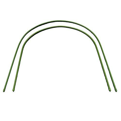 æ— 7er-Pack Gewächshaus-Reifen, Pflanzen-Wachstumstunnel, 1,2 m lang, Stahl, kunststoffbeschichtet, Pflanzenstützreifen für Gartenpflanzen-Abdeckung (Bogengröße: 59,9 x 69,9 cm)