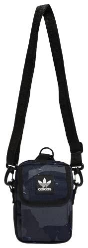 adidas Originals Utility Festival Crossbody Bag, Rain Camo Legend Ink Blue, One Size