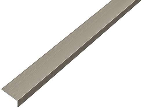 GAH-Alberts 488758 Winkelprofil | selbstklebend | Aluminium, edelstahldesign, dunkel | 1000 x 20 x 10 mm