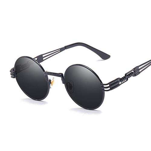 Sunglasses Gafas de Sol de Moda Gafas De Sol Redondas De Metal Steampunk Hombres Mujeres Gafas De Moda Diseñador De La M