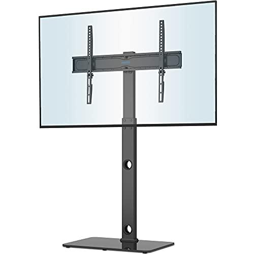 BONTEC Soporte TV Pie Soporte Suelo para Televisores Curvos Planos de Plasma OLED LCD LED de 30-70 Pulgadas, Soporte de TV Alto Ajustable en Altura con Soportes de hasta 40 kg, VESA Máximo 600x400 mm