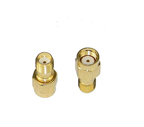 2PCs coaxial Coax Adapter SMA Female to RP-SMA Male; Wi-Fi Antenna/Signal Booster/Repeaters/Radio/Extension Cable/FPV Drone 2pack