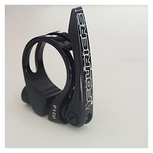 Abrazadera Sillin MTB Asiento de Bicicleta Post Abrazadera Ultra-Luz Aleación de Aluminio Montaña Carretera Sillín de Asiento de Asiento 31.8, 34.9mm Cierre Tija Sillin 34.9 (Color : Black 31.8)