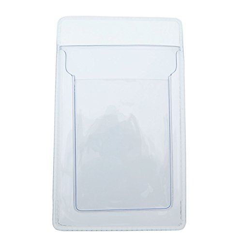 Clear Heavy Duty Vinyl Pocket Protector with Vertical ID Card Badge Holder by Specialist ID (1 Sold Individually)