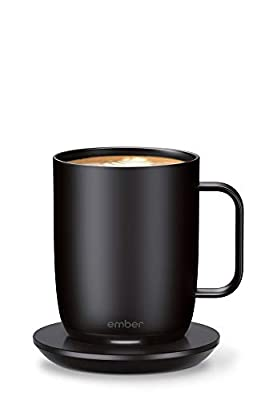 NEW Ember Temperature Control Smart Mug 2, 14 oz, Black, 80 min. Battery Life - App Controlled Heated Coffee Mug - Improved Design from Ember