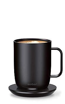NEW Ember Temperature Control Smart Mug 2 14 oz Black 80 min Battery Life - App Controlled Heated Coffee Mug - Improved Design