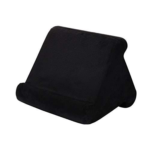 Tablet Almohada Teléfono Titular de Teléfono Soporte Restaurante Resto Soporte de lectura Cojín para cama Casa Sofá Multi-ángulo Soporte de vuelta de almohada suave, soporte de tableta de triángulo po