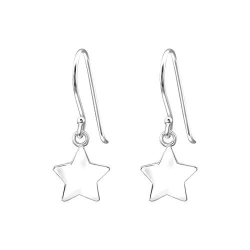 TATA Gisele© orecchini in argento 925/000RODIATO–Etoiles–9mm–pendenti